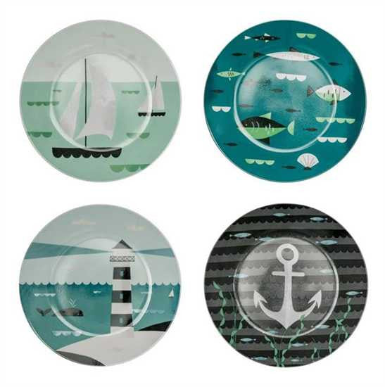 "Ahoy! 7.5"" Dessert Plates - Set Of 4"