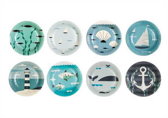 Ahoy! Paper Plates - Set Of 24