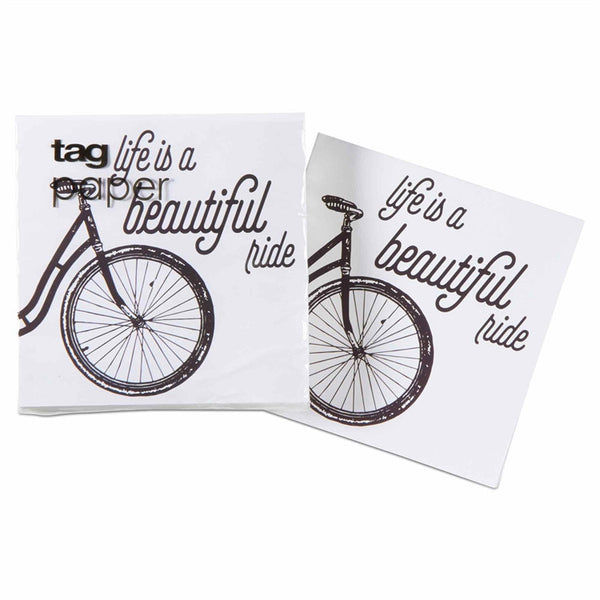Beautiful Ride Paper Cocktail Napkin