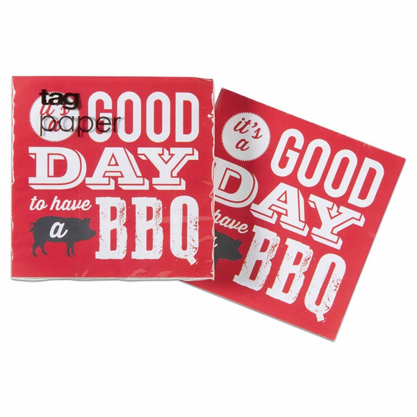 Good Day to have a BBQ Paper Cocktail Napkin