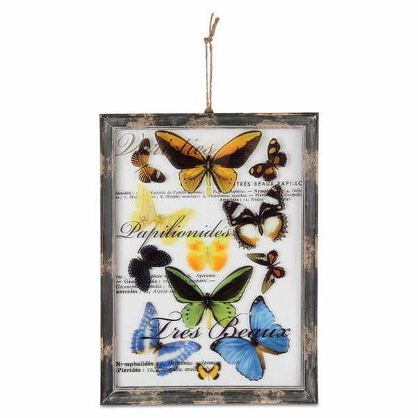 Butterfly Screend Glass Wall Art