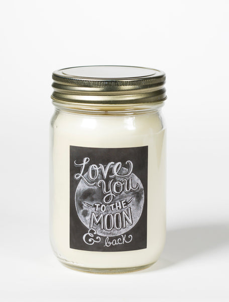 """To The Moon"" Mason Jar Candle"