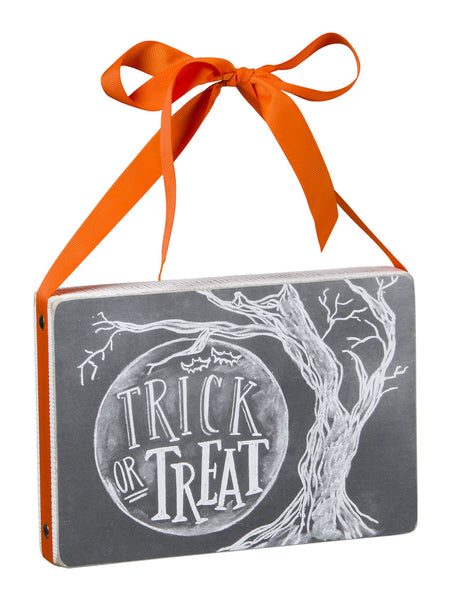 Trick or Treat Chalk Sign
