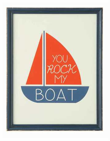 You Rock My Boat Framed Picture