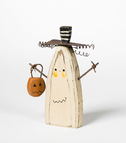 Wooden Trick or Treat Ghost