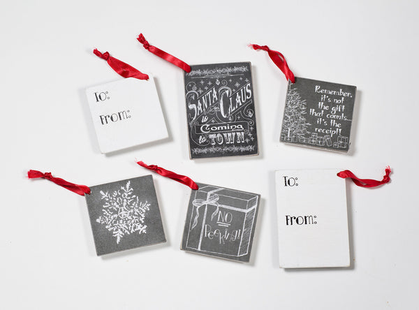 Christmas Chalk Gift Tags
