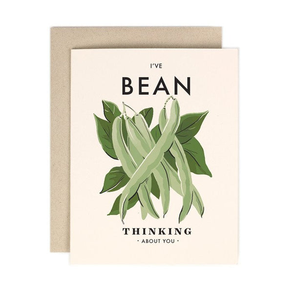 Bean Thinking About You Card