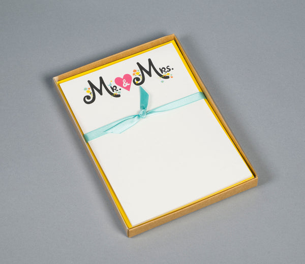 Mr & Mrs Note Cards