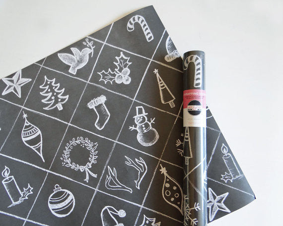 Holiday Symbols Wrapping Paper