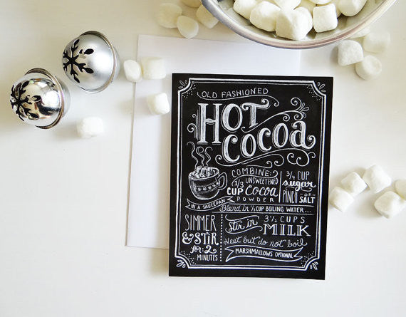 Hot Cocoa Recipe Card