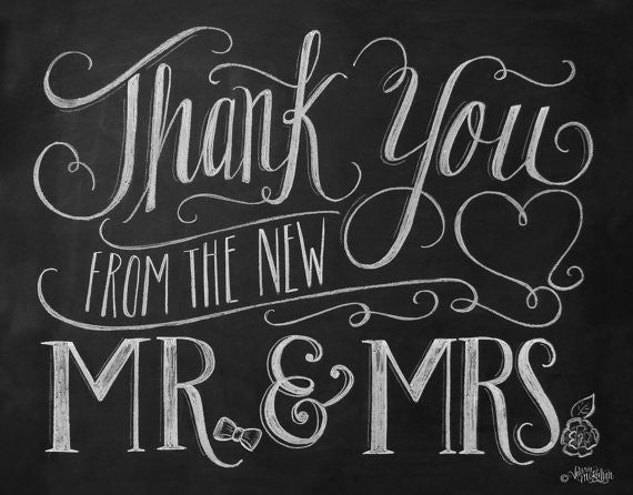 Thank You From the New Mr. & Mrs. Card