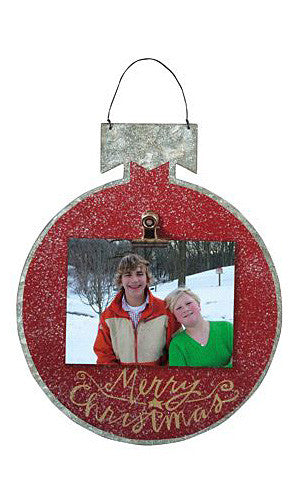 Red Tin Photo Ornament