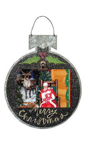 Black Tin Photo Ornament