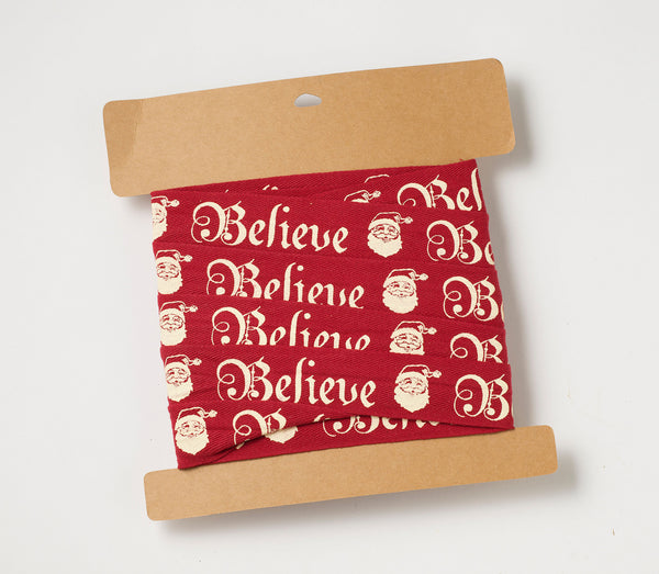 Believe Santa Ribbon
