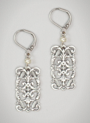 Baroque Dream in Silver Earrings