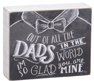 All the Dads Chalk sign