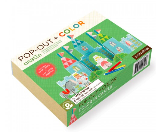 Color In Castle- Pop-out and Play