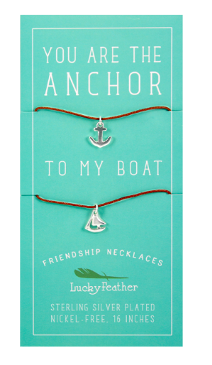 Friendship Necklace - Silver - ANCHOR/BOAT