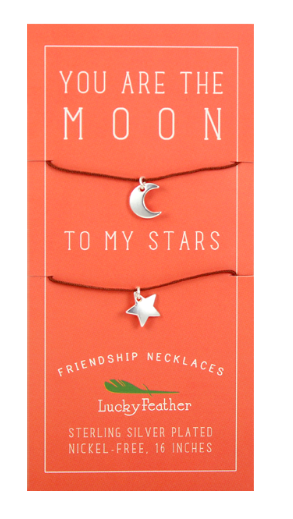 Friendship Necklace - Silver - MOON/STARS