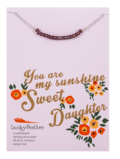 Cherishing Stone Necklace Gold/Top - Daughter