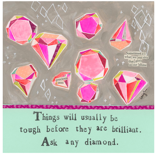 Brilliant Diamond Greeting Card