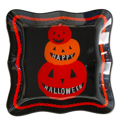 Happy Halloween Glass Plate