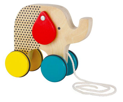 Elephant Wood Pull Toy