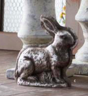 Antique Silver Resin Embossed Bunny