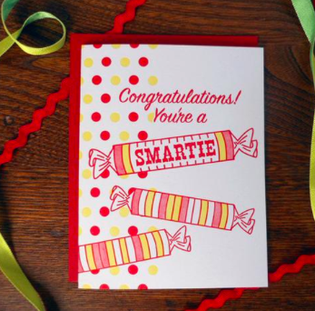 Congratulations Smartie Card