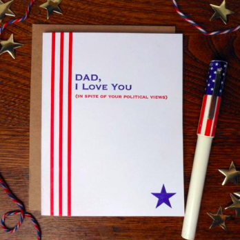 Dad Political Views Card