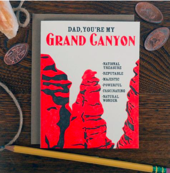 Dad Grand Canyon Card