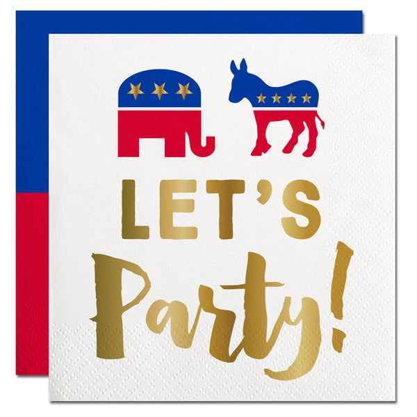 Let's Party Election Napkin