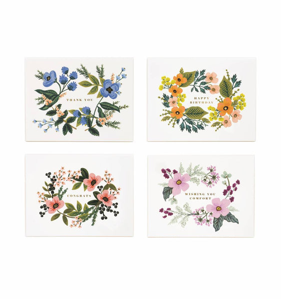 Assorted Bouquet Card Set