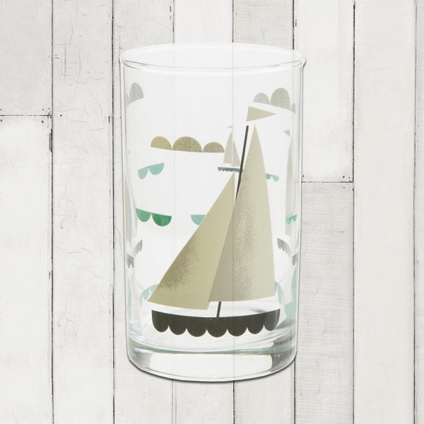 Ahoy! Table Glass- Sailboat