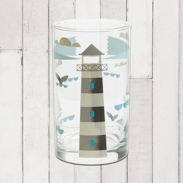 Ahoy! Table Glass- Lighthouse