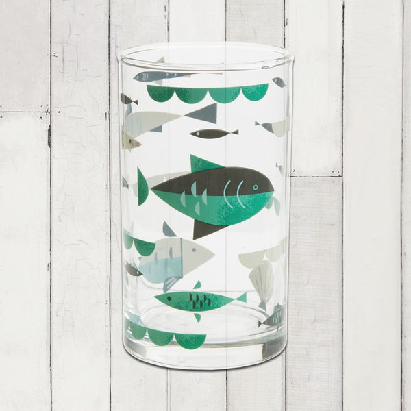 Ahoy! Table Glass- Fish