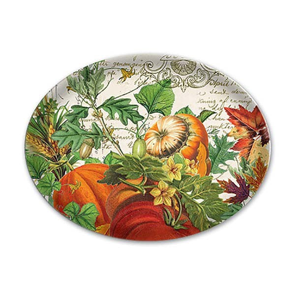 Autumn Harvest Glass Soap Dish