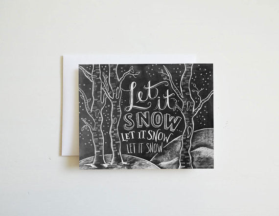 Let It Snow Woodland Card