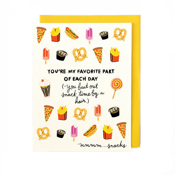 Snack Time Card