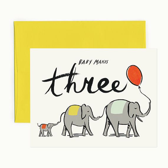 Baby Makes Three Greeting Card