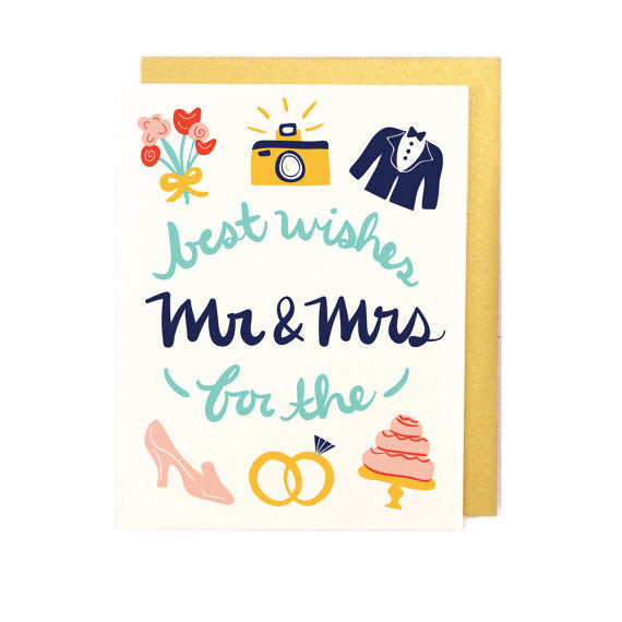 Best Wishes Mr & Mrs Card