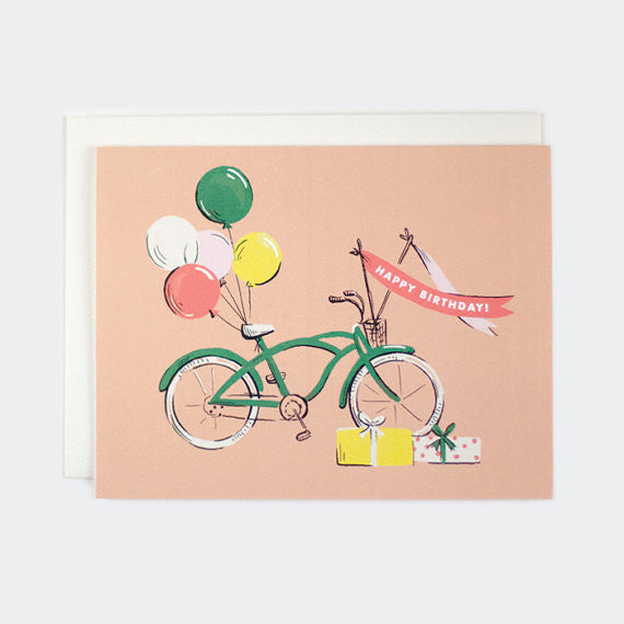 Bicycle Happy Birthday - Birthday Card