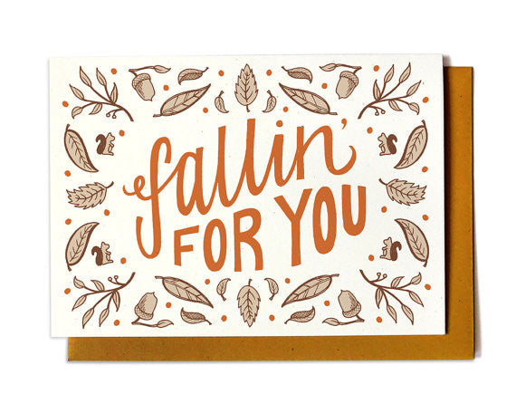 Autumn Love Card - Fallin' For You