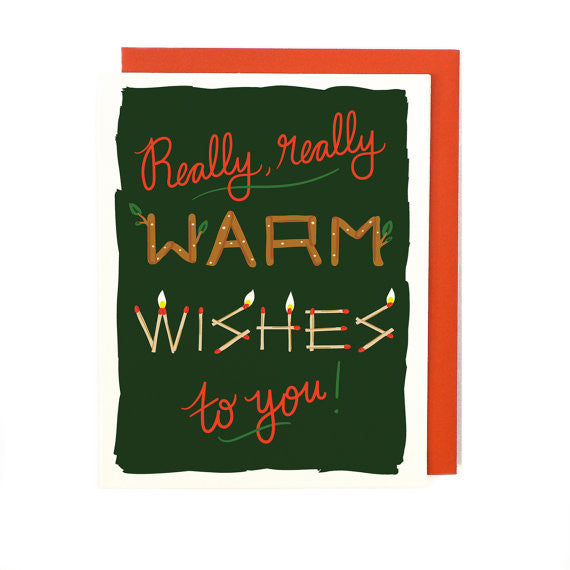 Really Warm Wishes Holiday Card