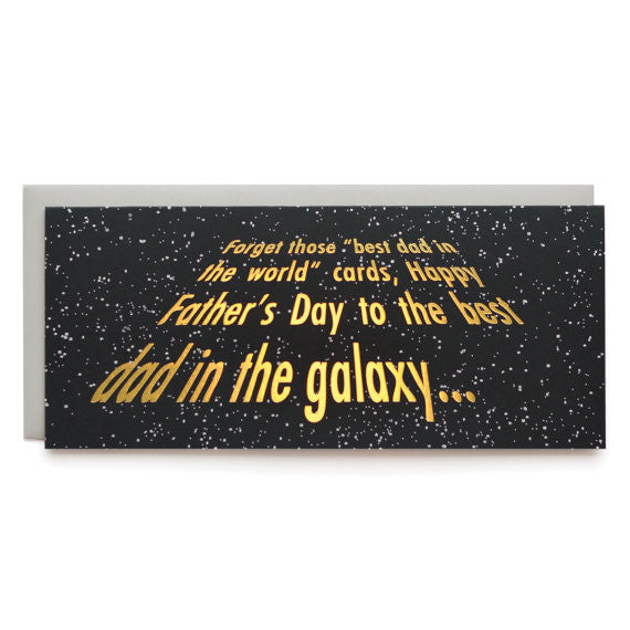 Galaxy Father's Day Card