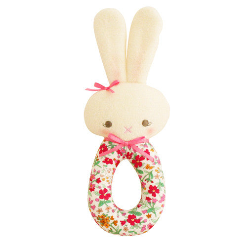 Hannah Bunny Grab Rattle - Flower Bouquet