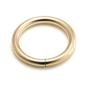 2.0mm heavy gauge rose gold PVD steel smooth segment ring 8mm 10mm 12mm