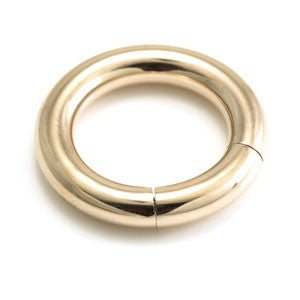 4.0mm large gauge smooth segment ring rose gold heavy gauge 12mm - 16mm internal diameters