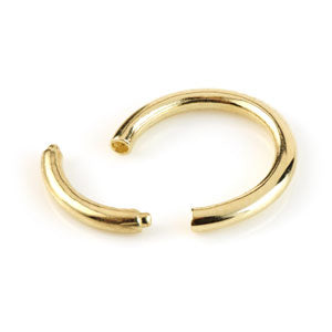 9ct Gold Plain Segment Ring 1.2mm