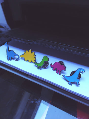 Cute Dinosaur Enamel Pin Badge